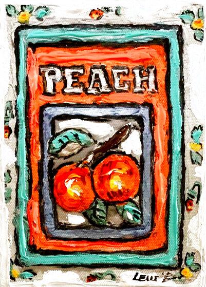 Peach # 3 7x5 Original Painting by Leslie Lew