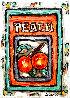 Peach # 3 7x5 Original Painting by Leslie Lew - 0