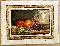 Still Life With Grapes 9x12 Original Painting by Leslie Lew - 1