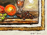 Still Life With Grapes 9x12 Original Painting by Leslie Lew - 3