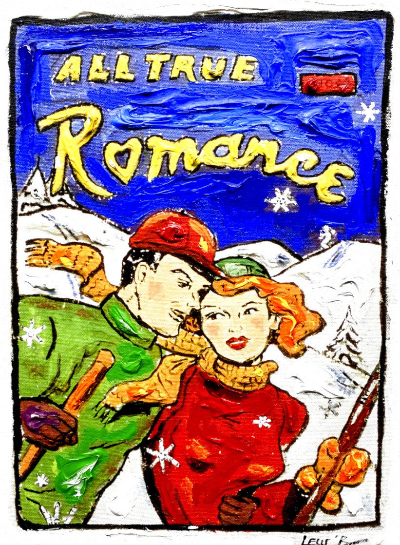 Ski Romance 16x12 Original Painting by Leslie Lew