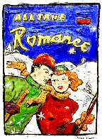 Ski Romance 16x12 Original Painting by Leslie Lew - 0