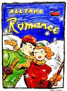 Ski Romance 16x12 Original Painting - Leslie Lew