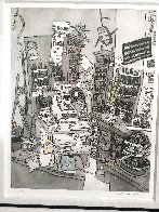 School Store 2008 17x14 Drawing by Leslie Lew - 3