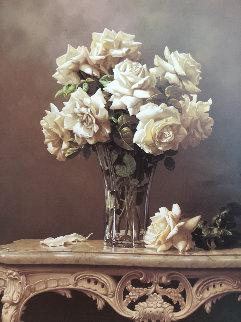 Elegance of White 30x24 Original Painting - Lex Gonzalez