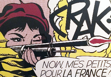Crak! Offset Lithograph 1964 Limited Edition Print - Roy Lichtenstein