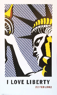 I Love Liberty Poster 1982 Limited Edition Print - Roy Lichtenstein