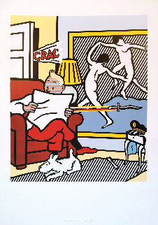 Tintin Reading Poster 1994 Limited Edition Print - Roy Lichtenstein