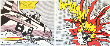 Whaam! (Diptych) Tate Gallery 2-piece Poster Set 1986 Limited Edition Print - Roy Lichtenstein