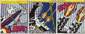 As I Opened Fire (Triptych) 3-piece Museum Poster Set 1983 Limited Edition Print - Roy Lichtenstein