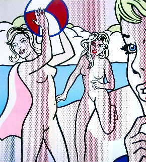 Nudes With Beach Ball Poster 1994 Limited Edition Print - Roy Lichtenstein