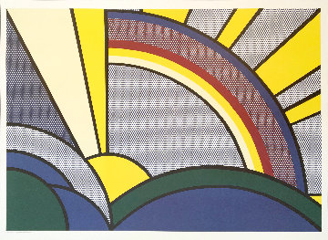 Modern Painting of Sun Rays Poster 1972 Limited Edition Print - Roy Lichtenstein