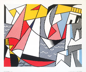 Sailboats 1973 Limited Edition Print - Roy Lichtenstein