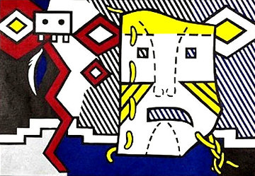 American Indian Theme V, From American Indian Theme 1980 Limited Edition Print by Roy Lichtenstein
