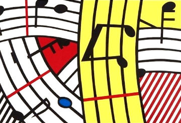 Composition IV 1995 Limited Edition Print - Roy Lichtenstein
