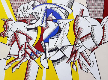 Red Horseman 1975 Limited Edition Print - Roy Lichtenstein