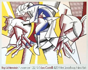 Red Horseman / Leo Castelli Poster 1975 Limited Edition Print - Roy Lichtenstein