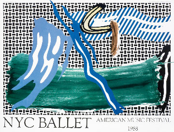 New York City Ballet Poster 1988 Limited Edition Print - Roy Lichtenstein