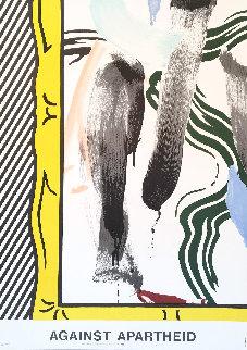 Against Apartheid Poster  1983 Limited Edition Print - Roy Lichtenstein