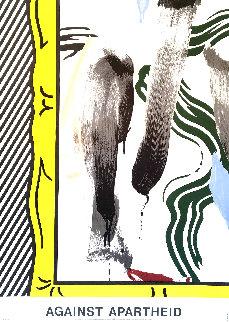 Against Apartheid 1983 Limited Edition Print by Roy Lichtenstein