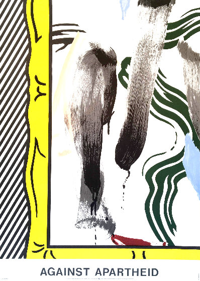 Against Apartheid 1983 Limited Edition Print by Roy Lichtenstein