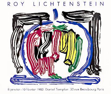 Brushstroke Apple / Galerie Daniel Templon Poster 1983 Limited Edition Print by Roy Lichtenstein