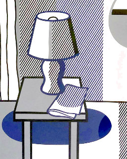 Still Life With Table Lamp: Poetry Project Symposium 1988 Limited Edition Print - Roy Lichtenstein