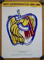 Apple Poster 1981 - Hand Signed Limited Edition Print by Roy Lichtenstein - 4