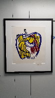 Apple Poster 1981 - Hand Signed Limited Edition Print by Roy Lichtenstein - 1