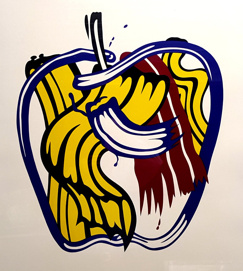 Apple Poster 1981 - Hand Signed Limited Edition Print by Roy Lichtenstein