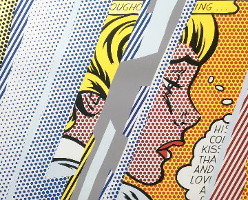 Reflections on Girl Hand Signed Poster 1990 Limited Edition Print - Roy Lichtenstein