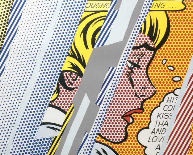 Reflections on Girl Hand Signed Poster 1990 Limited Edition Print by Roy Lichtenstein