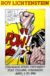 Sweet Dreams, Baby! Hand Signed Poster 1982 Limited Edition Print by Roy Lichtenstein
