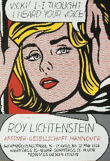 Vicki! I -- I Thought I Heard Your Voice Poster 1968 Limited Edition Print by Roy Lichtenstein
