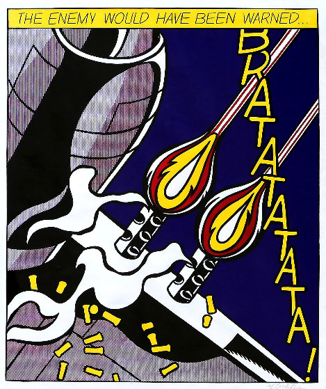 Enemy Would Have Been Warned Poster HS by Roy Lichtenstein