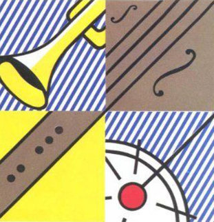 Four Sections 1990 HS Limited Edition Print - Roy Lichtenstein
