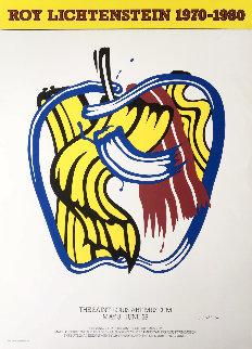 Apple Poster 1981 Hand Signed Limited Edition Print - Roy Lichtenstein