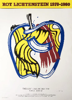 Apple (Hand Signed) Limited Edition Print by Roy Lichtenstein