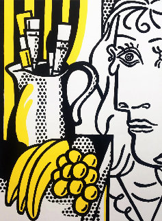 Still Life With Picasso Hand Signed Poster 1982 Limited Edition Print by Roy Lichtenstein