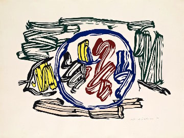 Apple And Lemon 1983 Limited Edition Print by Roy Lichtenstein
