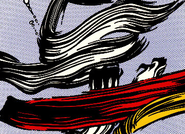 Brushstroke 1967 Limited Edition Print - Roy Lichtenstein