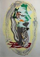 Brushstroke Figures - Green Face 1989 Limited Edition Print by Roy Lichtenstein - 1