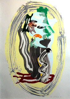 Brushstroke Figures - Green Face 1989 Limited Edition Print - Roy Lichtenstein