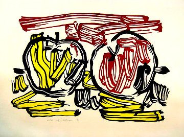 Red and Yellow Apple 1983 Limited Edition Print - Roy Lichtenstein