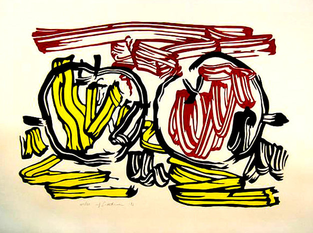 Red and Yellow Apple 1983 Limited Edition Print by Roy Lichtenstein