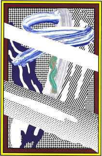 Reflections on Expressionist Painting 1990 Limited Edition Print by Roy Lichtenstein