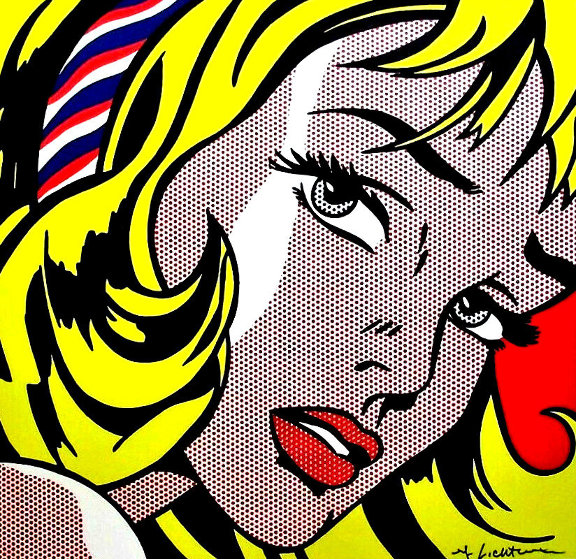 Girl With Hair Ribbon Poster 1993  HS by Roy Lichtenstein