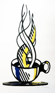 Cup and Saucer II Poster, Hand Signed 1989   Limited Edition Print - Roy Lichtenstein