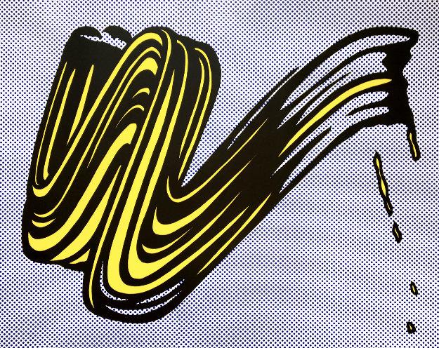 Brushstroke (Hand Signed) 1965 by Roy Lichtenstein