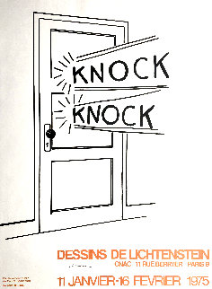 Knock Knock Poster 1975 HS Limited Edition Print by Roy Lichtenstein